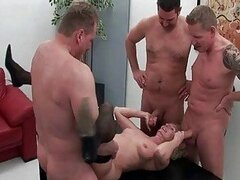 Mommy takes on four hard Guys all at the same time