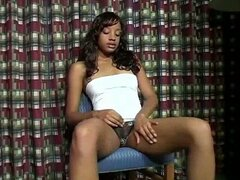Masturbation solo of my sizzling hot leggy ebony girlfriend