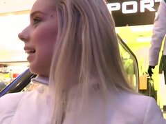 Gorgeous blonde babe sizzling public fucking fun