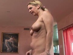 Busty blonde milf takes it hard