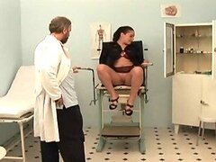 Horny Gynecologist Has Fun With A Busty Patient