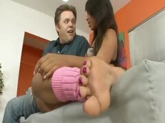 Leilani Leeane Gets Her Feet Worshipped and Fucked