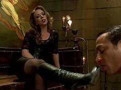 Hot Mistress Will Get Her Boots Licked