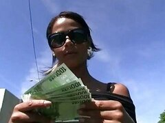 Hot latina paid to have sex in public