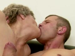 Granny Soothing the Pain witth a Blowjob...