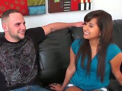 What a gorgeous Latina beauty Jade Kennedy is! Now this perverted fellow Jmac tries to seduce her to have some unforgettable banging with him in front of the camera.