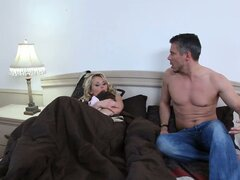 Sleeping beauty Laura Crystal makes her lover horny