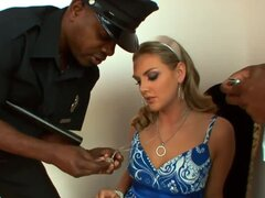 Brianna Love double teamed by black cops