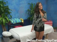 Our hidden spy cameras caught Riley the massage therapist giving more than a massage!