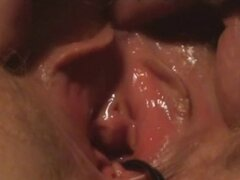 Real Amateur MILF Close-Up Period Fuck and Creampie!