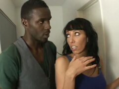 Alia Janine and Her Husband Service a Big Black Cock