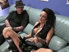 Rockstar Alektra Blue Getting Double Teamed In The Backstage