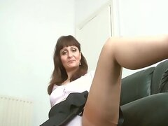 A babe Upskirt  Nylon stocking high heels Teasing (MrNo)