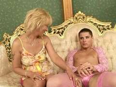 Crossdresser's Delight in Gettin His Ass Licked and Having Some Sex