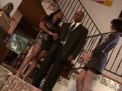 Jada Fire and Roxanne Hall in the nice threesome