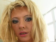 Tamed Teens Bitchslapped blonde slut made to fuck and swallow