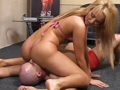 Aleska Diamond with her servant boy  Humiliating Video