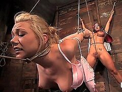 Hot and Horny Blonde Tied and Fucked Hard Too