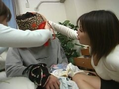 Horny japanese chicks playing a young boy