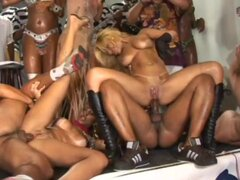 Brazil party orgy hard fuck