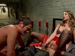 Hot BDSM Threesome with a Horny Mistress