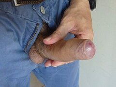 I play with my uncut cock