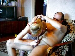 Blond wife home porn video