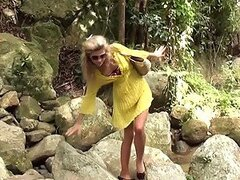 Adventures of naughty blonde Russian girl in Thailand