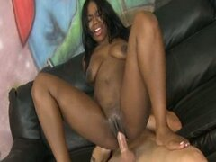 Ghetto ebony jacqui banks loves black cock