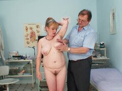 Hairy mature for her gyno exam
