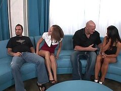Swinger Foursome With The Slutty Babes Scarlett Fay & Charisma Capelli