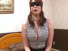 Big titty Araki is bound and blindfolded