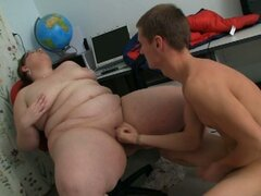 Young student fucks his bbw tutor