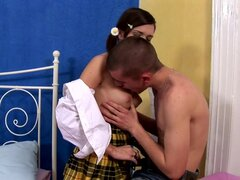 Girl is pounded hard in a doggystyle