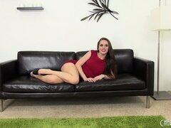 Tori Black strips out of her little red dress and teases for the camera