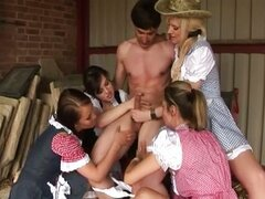 Cfnm country babes get nasty