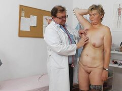 Berta and her perverted doctor with instruments