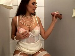 Gorgeous glory hole for sexy brunette Nataly Brown