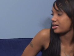 Godess ebony teen arrives for job interveiw