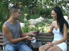 Smoking Hot Brunette Brenda Black Gets Her Hairy Pussy Fucked Outdoors
