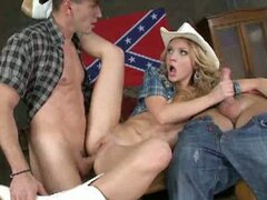 Nataly gets wild west double penetration