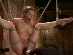 Hog tied babed in bondage fun