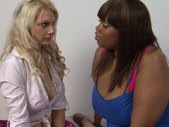 Ebony Busty Cookie is playing with Paige Bailey