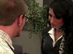 Horny Cougar Persia Pele Fucks The Post Guy In the Office