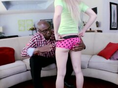 Old black guy for sure likes banging sweet young blondies such as Sofie Carter here, that is doing everything she can for him to like it. Enjoy the hot sexual intercourse.