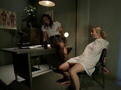 Amber Rayne gets nasty with patient Adrianna Nicole