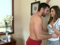Spoiled teen Victoria Lawson seduces host