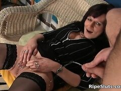 Piss; Mature slut with piercings on pussy