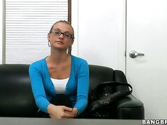 I got a very sweet looking girl in the office today. Her name is Natasha and she wanted to get into the business. She has a girl friend, but she likes dick