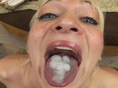 Brandon Iron Slams His Cock Meat Down Rachel Love's Tight Little Mouth Before Unloading On Her Tongue!